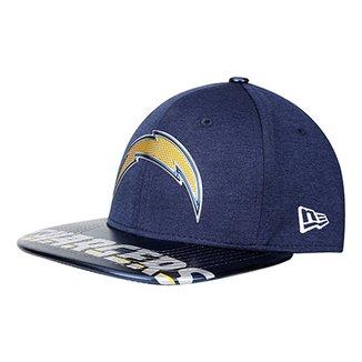 Boné New Era NFL Los Angeles Chargers Aba Reta 950 Original Fit Sn On Stage  Masculino 0dcda34321c