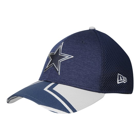 0ad08b110 Boné New Era NFL Dallas Cowboys Aba Curva 3930 On Stage Masculino - Marinho