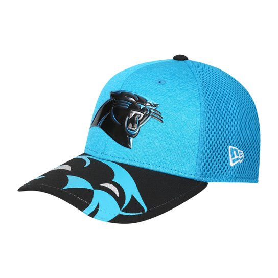 6c58833d74 Boné New Era NFL Carolina Panthers Aba Curva 3930 On Stage Masculino - Azul  Piscina+