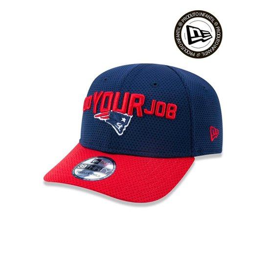 Boné 3930 New England Patriots NFL Aba Curva New Era - Azul - Compre ... 5a36c784bdddb
