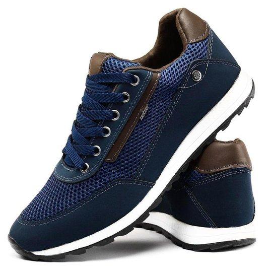 fedfe8d22 Sapatenis Couro Florense Confortável Masculino - Azul | Netshoes