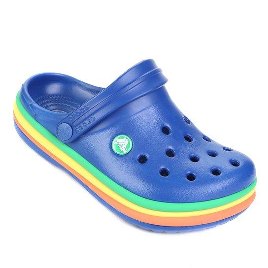 80f40606f9 Crocs Infantil Rainbow Band Clog - Azul