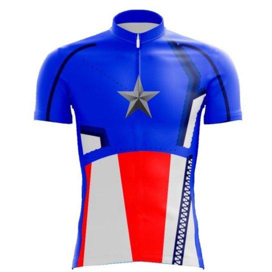 Camisa Scape Capitao America Masculina - Azul - Compre Agora  7285a2673b923