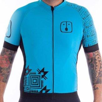 Camisa Ahau Masculina Racing Warrior Sky Ciclismo 2c8109967e4f5