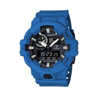 105a3be616b Compre Relogio Masculino Azul Online