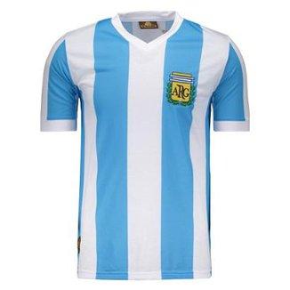 Camisa Argentina Retrô N° 10 Masculina 6359434972a4f