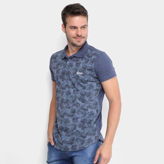 Camisa Polo Gangster Estampada Floral Masculina - Compre Agora ... c78cc9bf98358