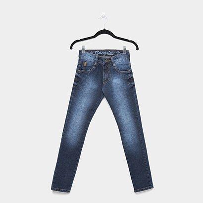 Calça Jeans Infantil Skinny Gangster Estonada Masculina
