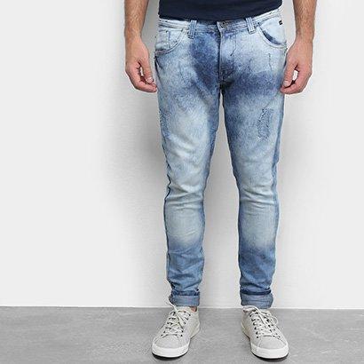Calça Jeans Skinny Fatal Masculino Marmorizada Masculina