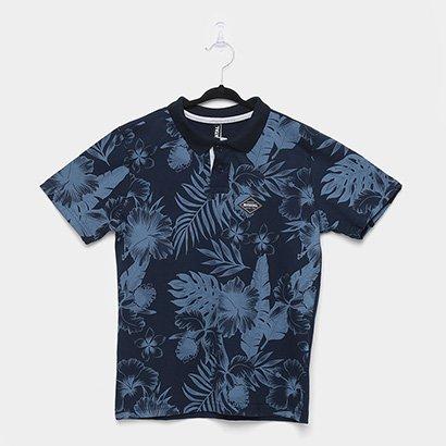 Camisa Polo Infantil Fatal Folhagens Masculina