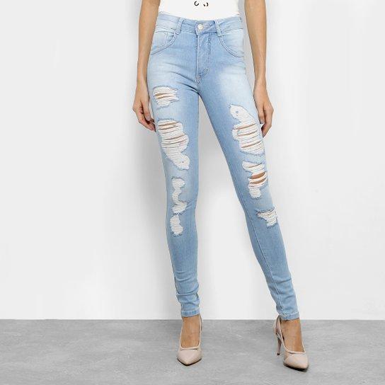 4fb0743ba Calça Jeans Cigarrete Biotipo Cintura Média Feminina   Netshoes