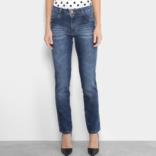8e62e3a13 Calça Jeans Reta Biotipo Estonada Cintura Alta Feminina | Netshoes