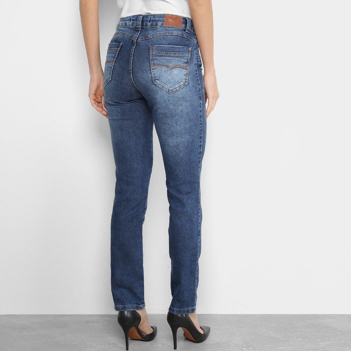 fab24c64f Calça Jeans Reta Biotipo Estonada Cintura Alta Feminina | Opte+