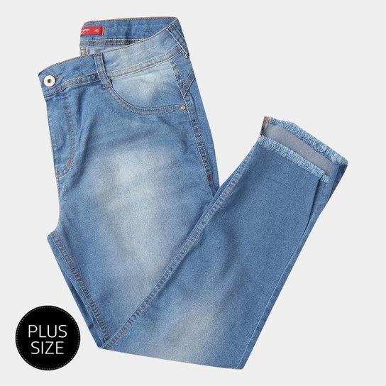 821eb6a60 Calças Jeans Skinny Biotipo Alice Plus Size Cintura Alta Feminina - Azul