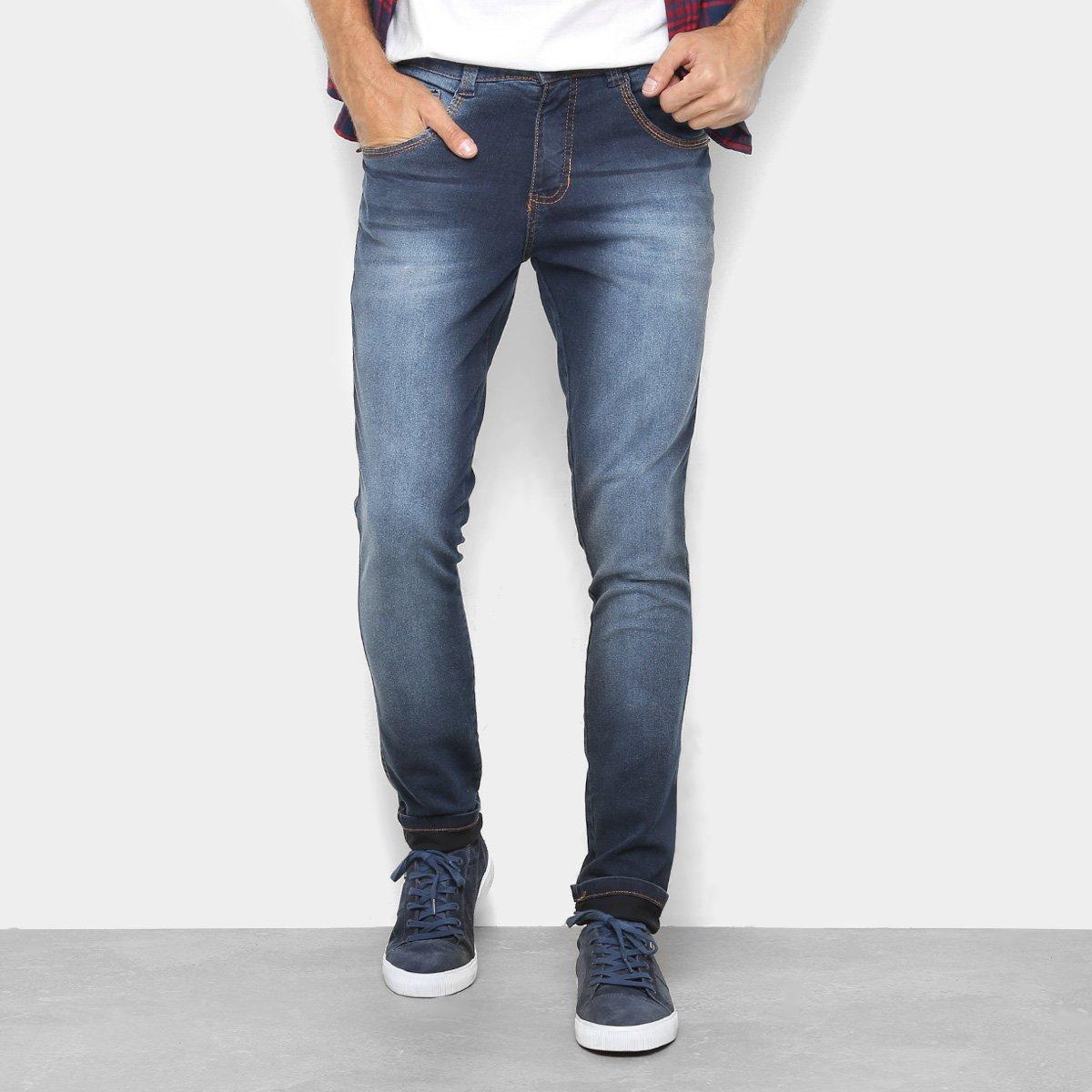 956153837 Calça Jeans Skinny Biotipo Estonada Cintura Média Masculina - Tam: ...
