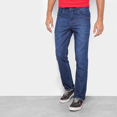 Calça Jeans Slim Biotipo com Bigode Masculina