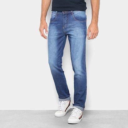 Calça Jeans Reta Biotipo Estonada Cintura Média Masculina