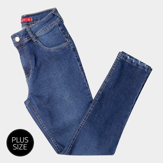7d310de16 Calça Jeans Skinny Biotipo Soft Alice Plus Size Cintura Alta Feminina - Azul
