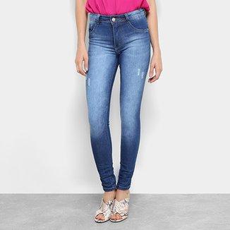 964da2659 Calça Jeans Skinny Biotipo Estonada Cintura Média Soft Melissa Feminina