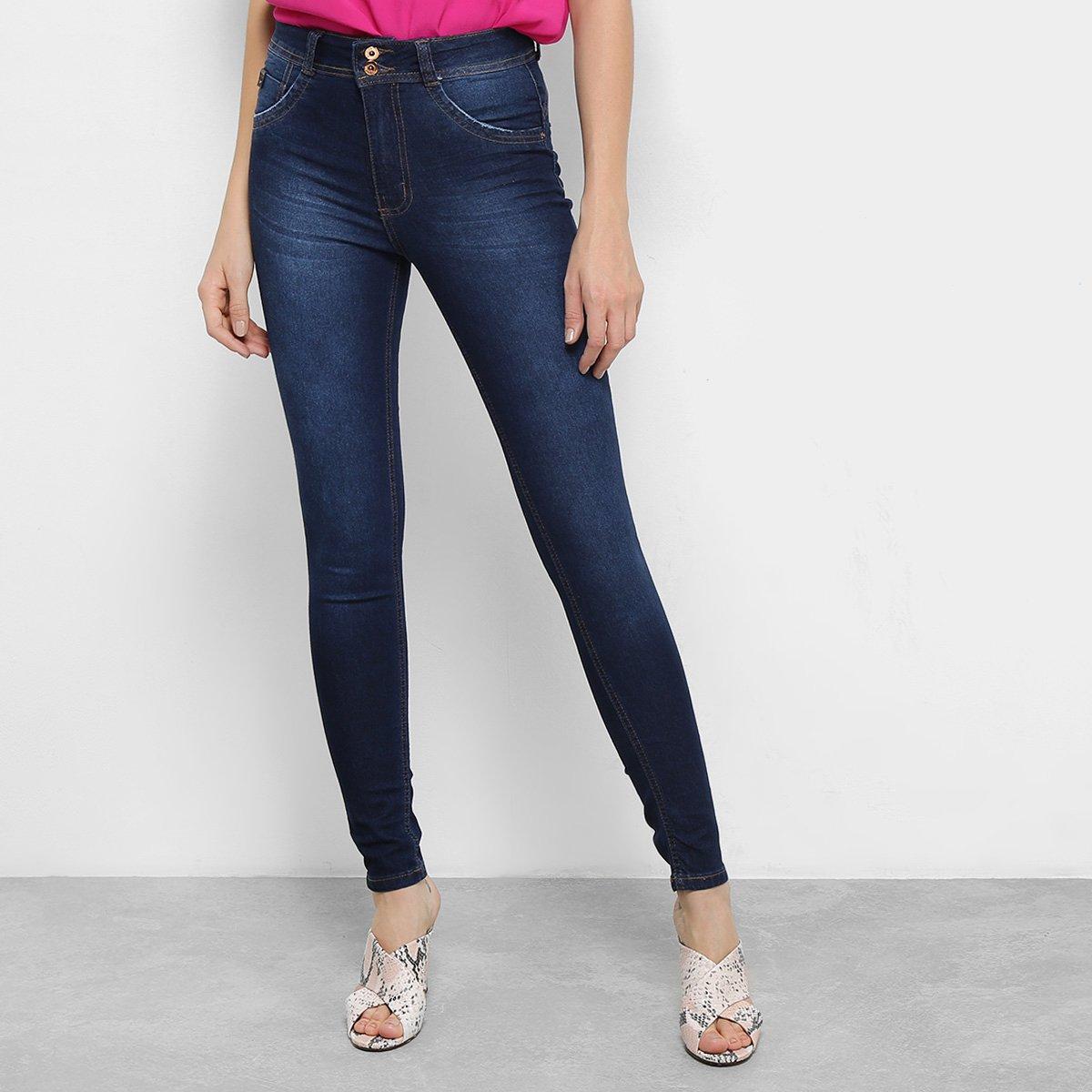 072b7a894 Calça Jeans Skinny Biotipo Estonada Cintura Média Soft Melissa Feminina