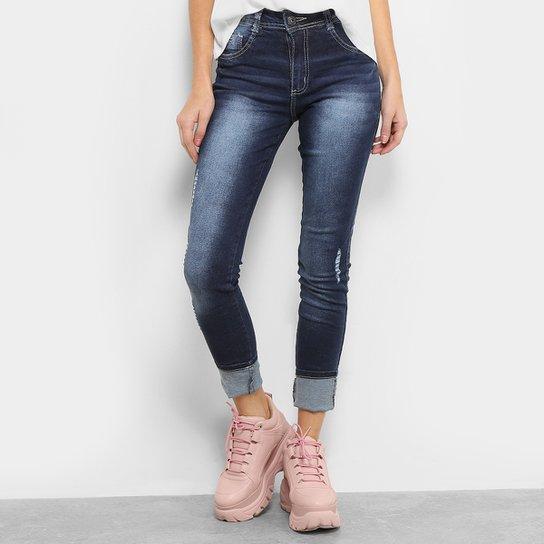 788518161 Calça Jeans Skinny Biotipo Melissa Cintura Média Feminina - Azul ...