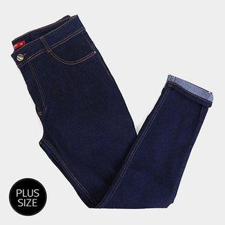 4214cf06b Calça Jeans Plus Size Biotipo Skinny Alice Cintura Alta Feminina