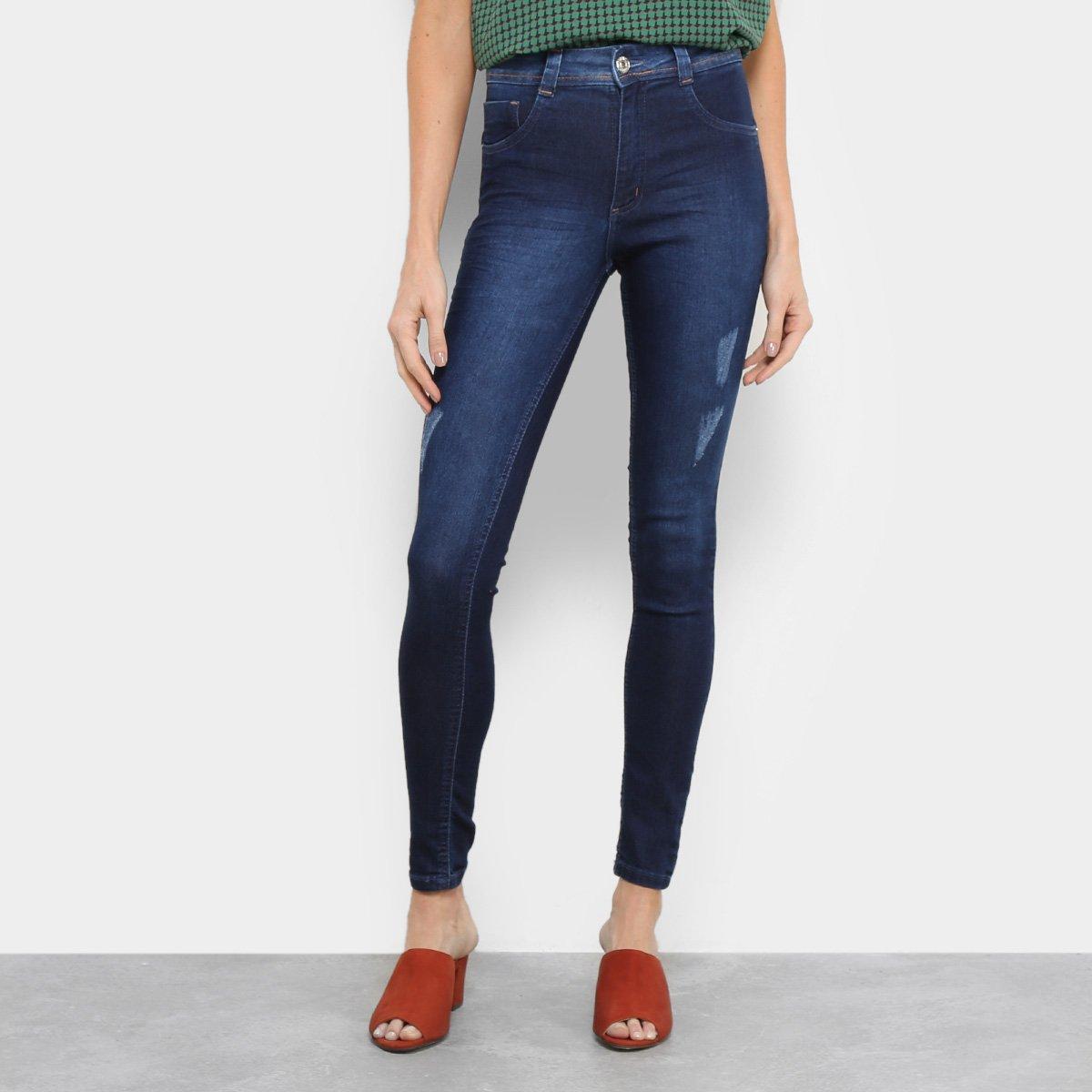 1a807de9a Calça Jeans Skinny Biotipo Melissa Cintura Média Bigode Feminina | Opte+
