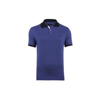 Camisa Polo Pierre Cardin Cobalt Masculina 08b5b646e2f0d