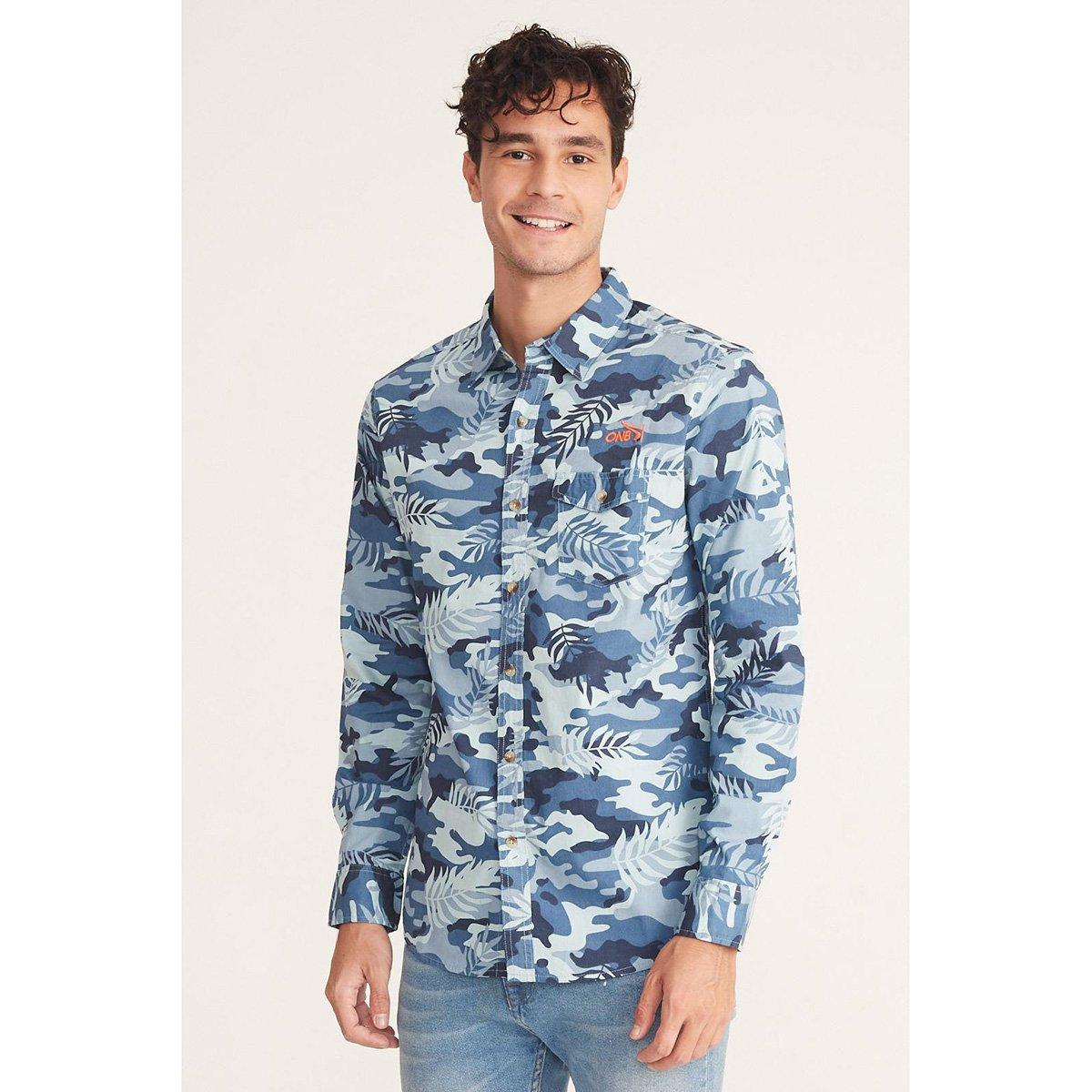 Camisa Onbongo Camuflada Folhagens Masculina