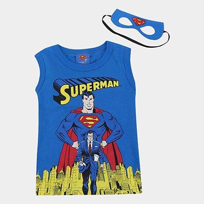 Regata Infantil Marlan Superman Com Máscara Masculina
