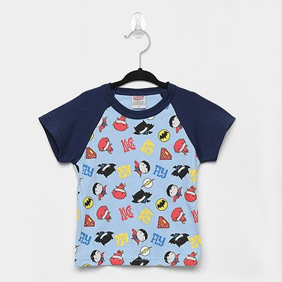 Camiseta Infantil Marlan Liga da Justiça Manga Curta