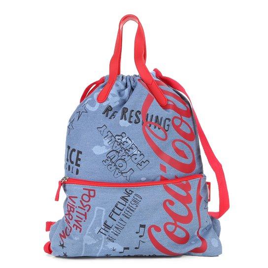 91c34140f Bolsa Coca-Cola Saco Doodles Feminina - Azul | Netshoes