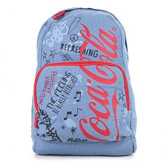 Mochila Coca-Cola Estampada Doodles Masculina 790d0f80d52da