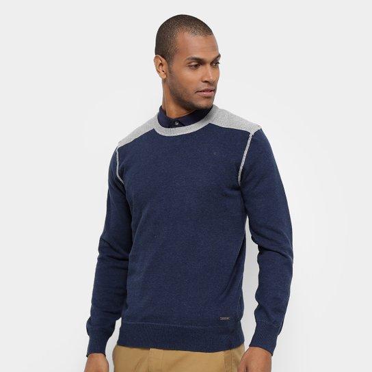 7cf7c3be36 Malha JAB Tricot Bicolor Cotovelera Masculina - Azul | Netshoes