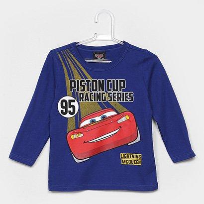 Camiseta Infantil Cativa Manga Longa Estampada MCQueen Masculina