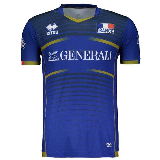 Camisa Errea França Vôlei Home 2017 - Compre Agora  6cdd870528de6