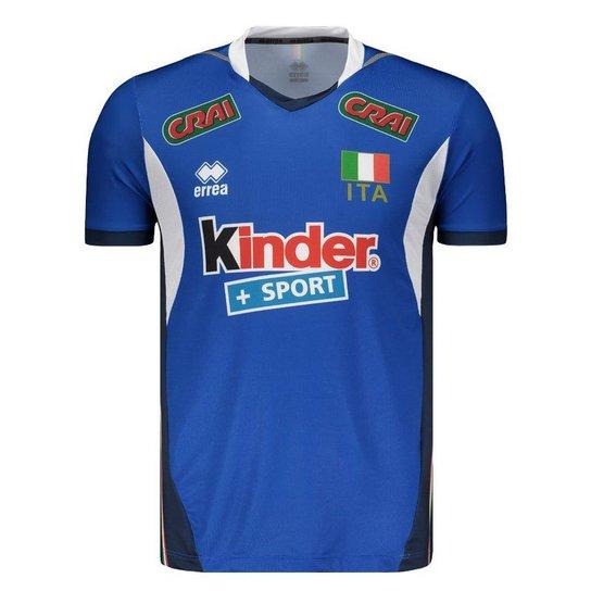 Camisa Itália Vôlei Home 2017 Errea Masculina - Azul - Compre Agora ... 83bb5bcfb1915
