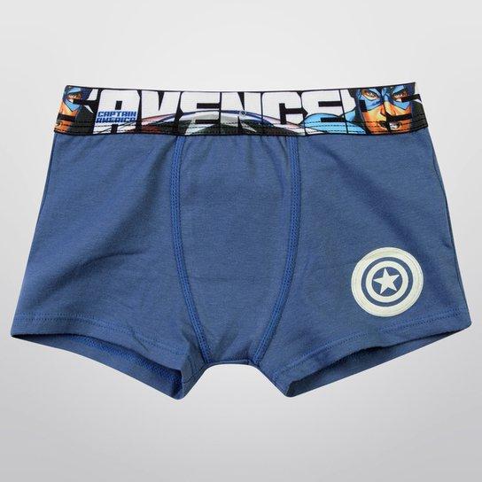 507e9c0e2 Cueca Boxer Vingadores Infantil - Azul