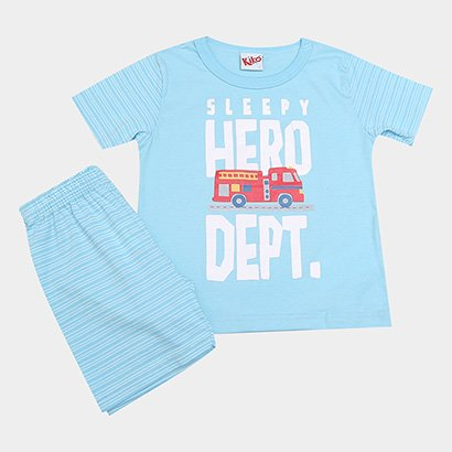 Pijama Infantil Kiko & Kika Estampa Listrada Masculino