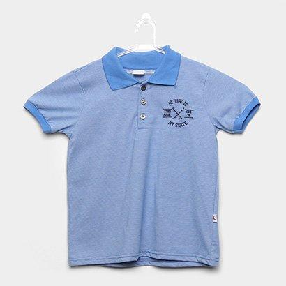 Camisa Polo Infantil Kiko & Kika Estampa Listrada Masculina