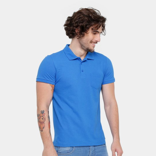 c47d82f53e Camisa Polo Kohmar Piquet Básica Masculina - Azul - Compre Agora ...