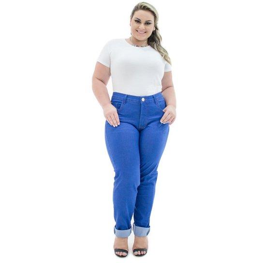 58ded172a Calça Confidencial Extra Jeans Cigarrete Missy com Lycra Plus Size Feminina  - Azul