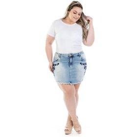 0fcd05a420 Saia Amaro Jeans Midi Babado - Compre Agora