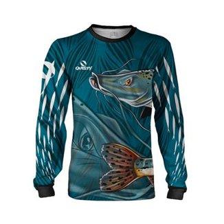 38937c737 Camisa Pesca Quisty Pintado Proteção UV Dryfit