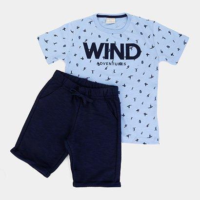 Conjunto Infantil Milon Curto Wind Adventures Masculino
