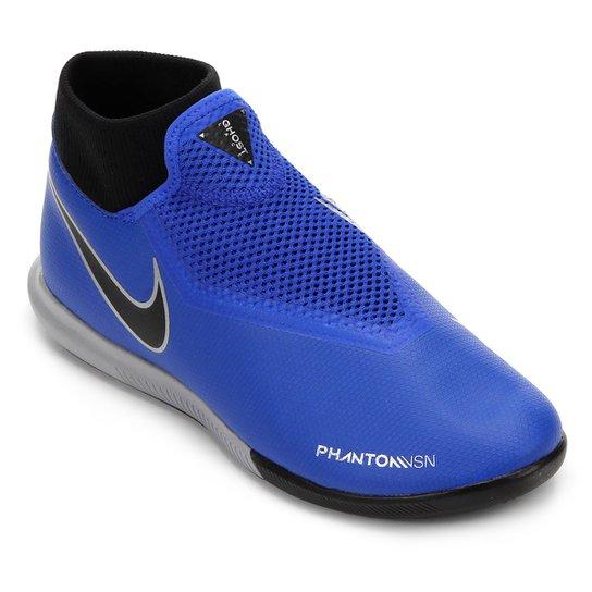 71ad073bce Chuteira Futsal Nike Phantom Vision Academy DF IC - Azul e Preto ...