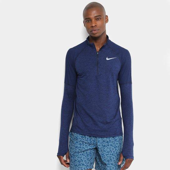 a3e183a51d Camiseta Nike Element Hz 2.0 Manga Longa Masculina - Azul
