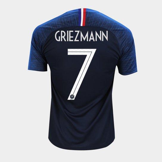 Camisa Seleção França Home 2018 n° 7 - Griezmann - Torcedor Nike Masculina  - Azul c257fc7fa8258