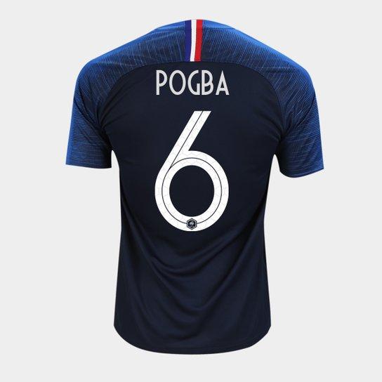 2d6390050b Camisa Seleção França Home 2018 n° 6 Pogba - Torcedor Nike Masculina - Azul