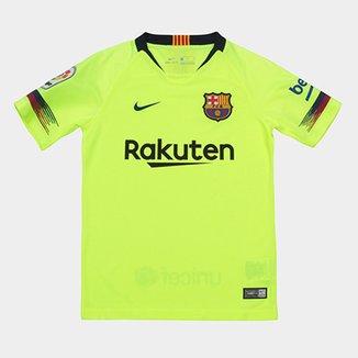 daf92ad9d1e5a Camisa Barcelona Infantil Away 2018 s n° - Torcedor Nike